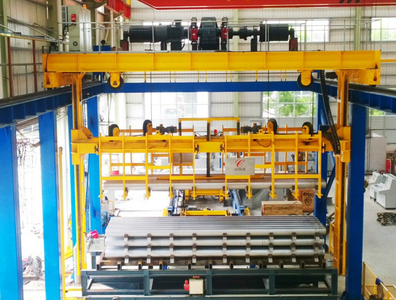Automatic billet stacking lines